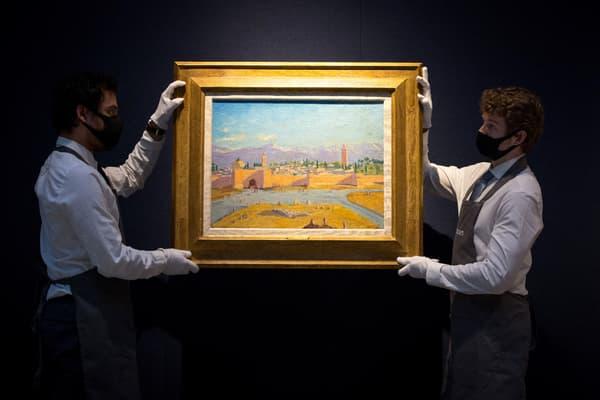 """Le tableau """"La tour de la mosquée Koutoubia"""" (1943) a été vendu aux enchères"""