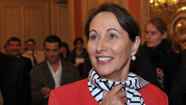 Ségolène Royal à la préfecture de Poitiers le 3 avril 2014.