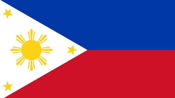 Le drapeau des Philippines.