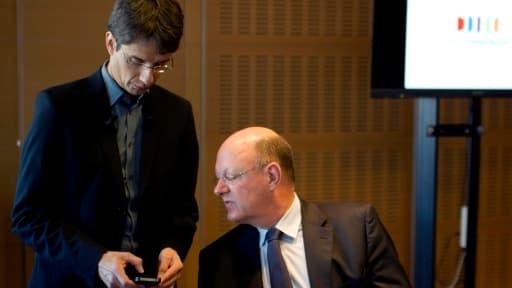 Bruno Patino (directeur général délégué au numérique) avec son PDG Rémy Pflimlin