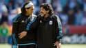 Carlos Tevez et Diego Maradona