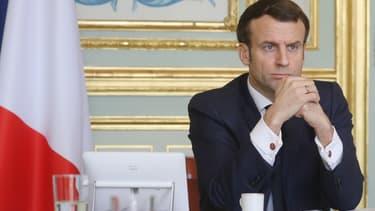 Emmanuel Macron, le 16 mars 2020.