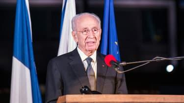 Shimon Peres, le 14 novembre 2015, à Tel-Aviv.
