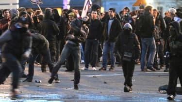 Des manifestants à Nantes, samedi 22 février 2014.