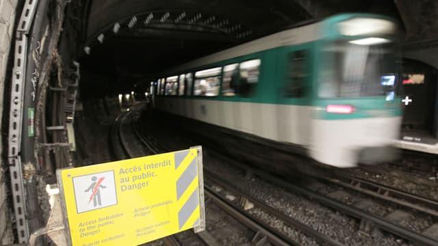 Un train a déraillé station Barbès (illustration).