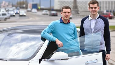 Pour Martin (à gauche) et Markus (à droite) Villig, le lancement de Taxify à Paris est le début d'une conquête européenne pour s'imposer face à Uber.
