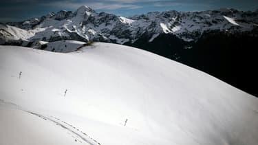Une piste de ski déserte au Mourtis (Haute-Garonne) le 16 décembre 2020