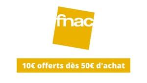 Fnac : 10 euros offerts dès 50 euros d'achat sur tous les jeux et jouets pour Noël