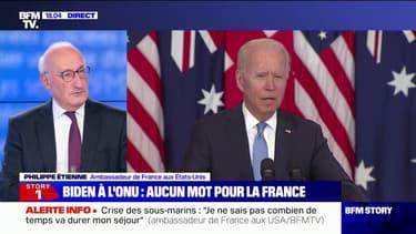 """Philippe Étienne, ambassadeur de France aux États-Unis: """"Nous ne comprenons pas l'attitude de l'Australie, mais aussi celle des États-Unis"""""""