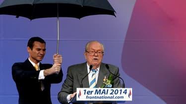 Le député européen et président d'honneur du FN Jean-Marie Le Pen, ici lors de son discours du 1er-Mai à Paris.