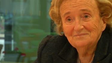 Bernadette Chirac à Nice dimanche 9 mars.