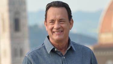 L'acteur américain Tom Hanks à Florence en mai 2015 pour le fim Inferno.