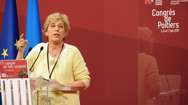 Marie-Noëlle Lienemann lors du Congrès de Poitiers, en juin 2015.