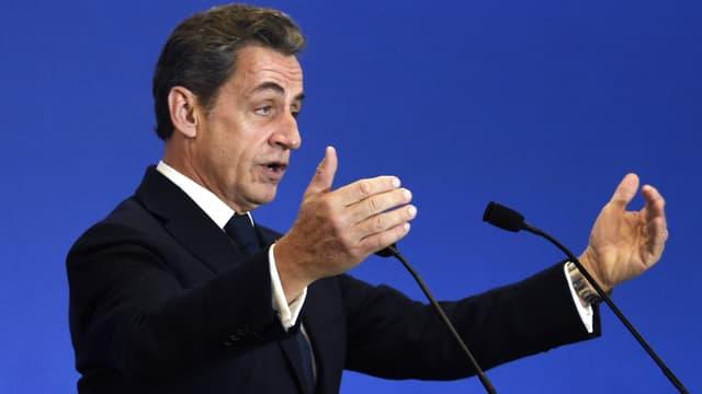 Nicolas Sarkozy en meeting, le 13 décembre 2014.