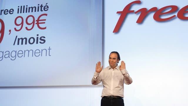 Free présentait son offre à prix cassés en janvier 2012.