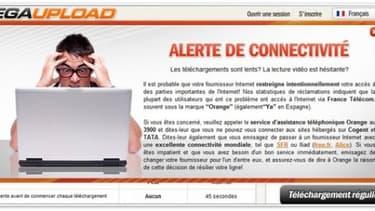 MegaUpload incitait les internautes à quitter Orange pour SFR ou Free
