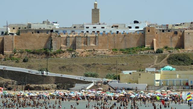 Une plage à Rabat, au Maroc, en 2010. (photo d'illustration)