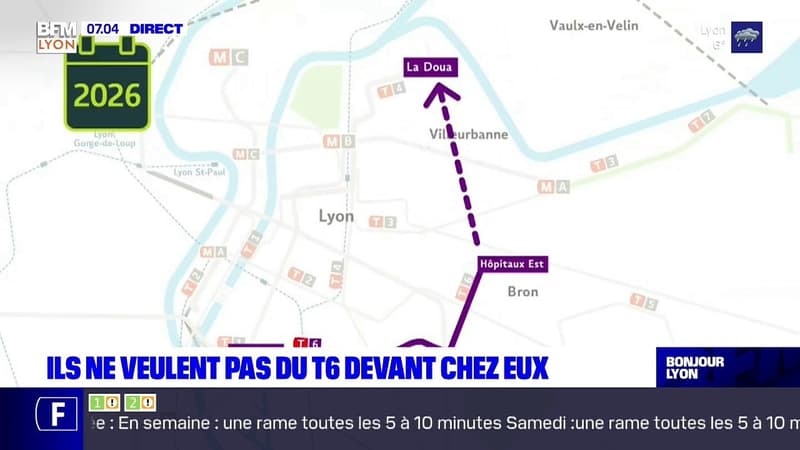 À Villeurbanne, des habitants se mobilisent contre la prolongation du tramway