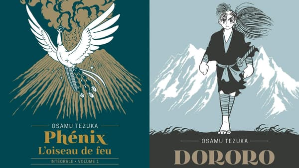 "Les couvertures de ""Phénix"" et de ""Dororo"" d'Osamu Tezuka"
