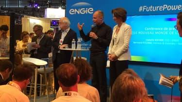 Bertrand Piccard et Isabelle Kocher -la directrice générale d'Engie- le 15 juin 2017 à Paris.