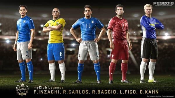 Inzaghi, Roberto Carlos, Baggio, Figo et Kahn vont retrouver une seconde jeunesse...virtuelle.