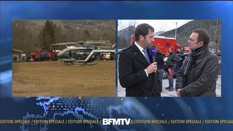 """Survol du crash par Christophe Castaner: """"Le premier choc a été de voir l'espoir disparaître"""""""