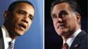 A deux semaines de l'élection présidentielle du 6 novembre aux Etats-Unis, Barack Obama et Mitt Romney se retrouvent ce lundi pour un troisième et dernier débat consacré à la politique étrangère. /Photos d'archives/REUTERS/Jim Young/Brian Snyder