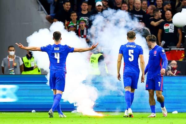 مباراة المجر وانجلترا في أجواء سيئة