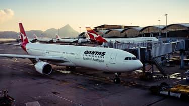 Un avion de la compagnie Qantas cloué au sol