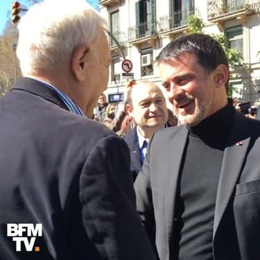 Manuel Valls manie l'espagnol et le catalan pour séduire les Barcelonais