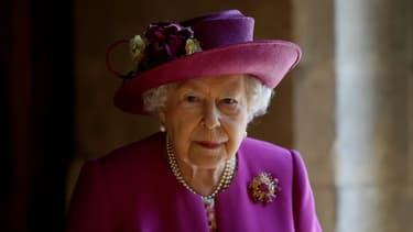 La reine Elizabeth II à l'abbaye de Westminster à Londres, le 8 juin 2018