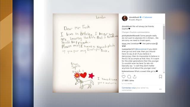 Capture d'écran du compte Instagram de Donald Tusk
