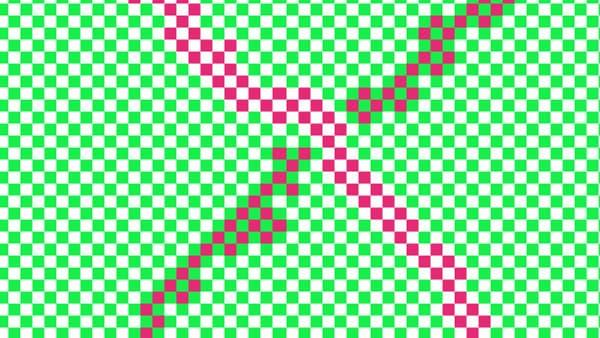 Il n'y a que deux couleurs de carrés dans cette illusion d'optique.