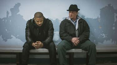 "Sylvester Stallone et Michael B. Jordan dans ""Creed: l'héritage de Rocky Balboa"" (2016)"