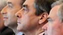 Les 194 députés de l'UMP, dont les principaux rivaux pour la présidence du parti, l'ancien Premier ministre François Fillon et le secrétaire général du parti, Jean-François Copé (ici aux côtés de Bernard Accoyer, président sortant de l'Assemblée), siègent