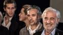 Jean-Paul Belmondo avec son fils Paul (avec son épouse Luana) et son petit-fils Victor en 2015.