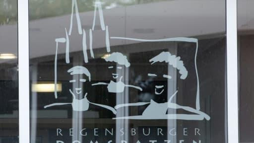 """Logo du chœur des """"Regensburger Domspatzen"""" (""""les Moineaux de la cathédrale de Ratisbonne""""), dans le sud de l'Allemagne, le 12 octobre 2016"""