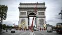 Les travaux sur l'Arc de Triomphe pour accueillir l'œuvre de Christo (illustration).