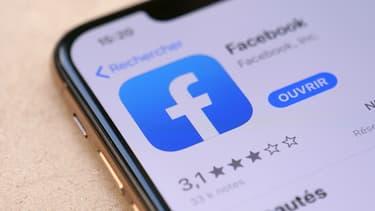 L'application Facebook sur iPhone
