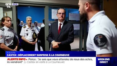 Jean Castex en déplacement surprise au commissariat de La Courneuve