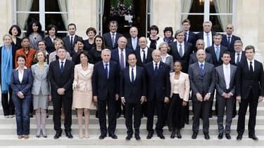 Le gouvernement de Jean-Marc Ayrault, le 17 mai 2012