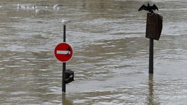La Seine en crue à Paris (photo d'illustration)