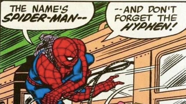 Spider-Man, avec un trait d'union !