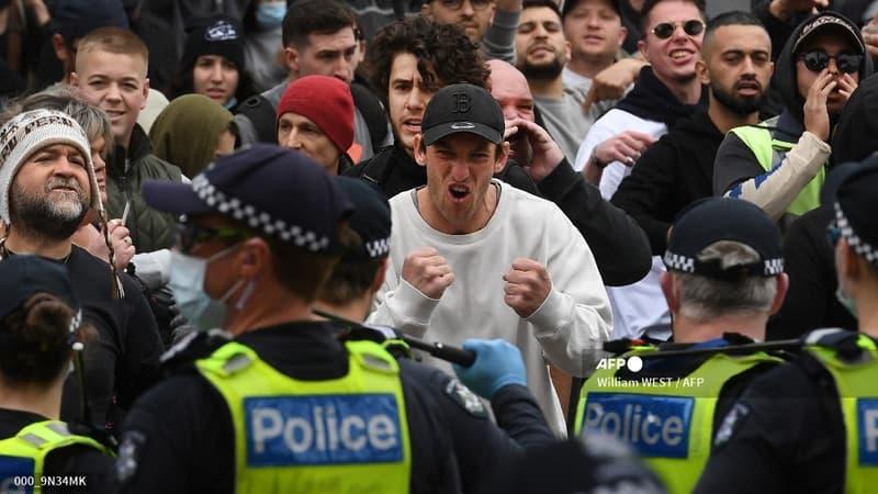 Melbourne: plus de 200 arrestations lors d'un rassemblement anti-confinement qui dégénère