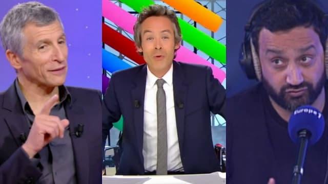 Nagui, Yann Barthes et Cyril Hanouna.