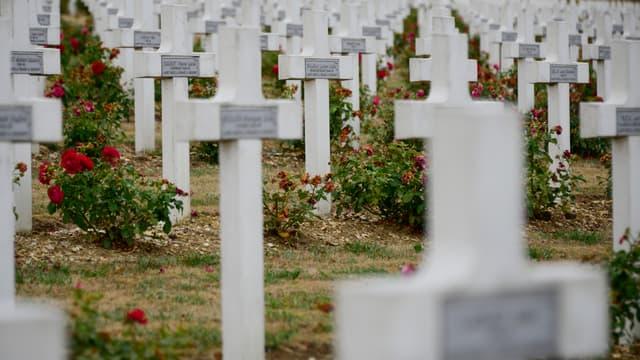 Le cimetière de Douamont, près de Verdun (Meuse).