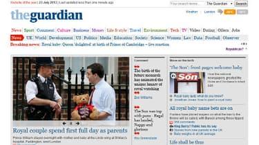 """La une du quotidien The Guardian, laisse le choix à se lecteurs: """"royalist ou republican?"""""""