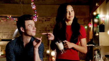 "Chris Colfer et Naya Rivera dans ""Glee"""