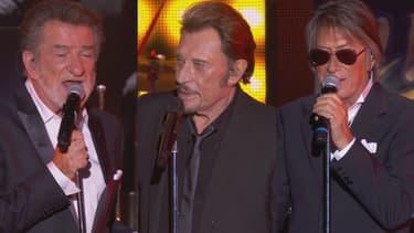 Eddy Mitchell, Johnny Hallyday et Jacques Dutronc, les trois Vieilles Canailles