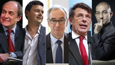 De gauche à droite, Jacques Généreux, Thomas Piketty, Jean-Pisani-Ferry, Philippe Chalmin et Jean Messiah